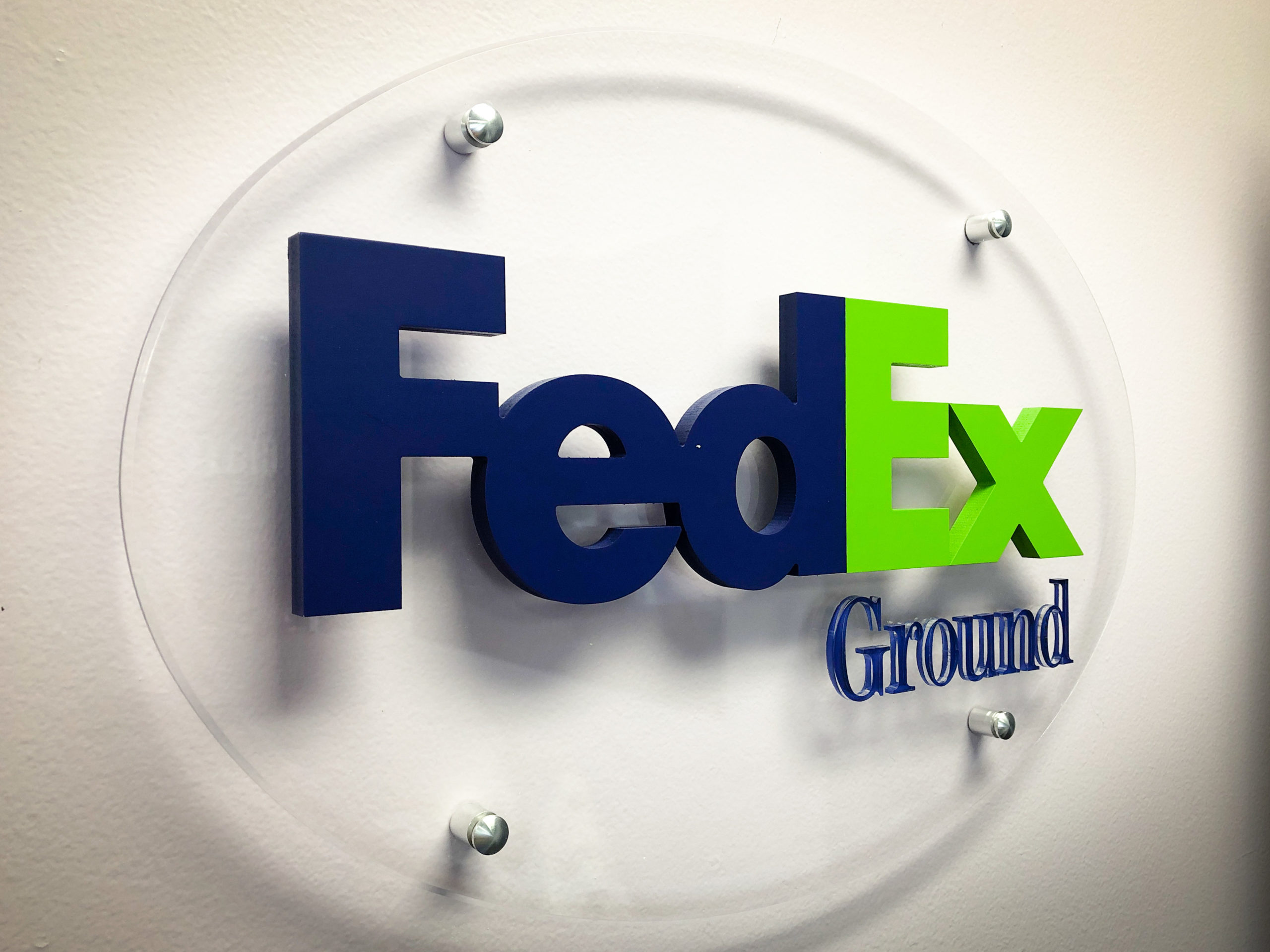 FedEx Acrylic Signs Custom Made by Your Denver Sign Company