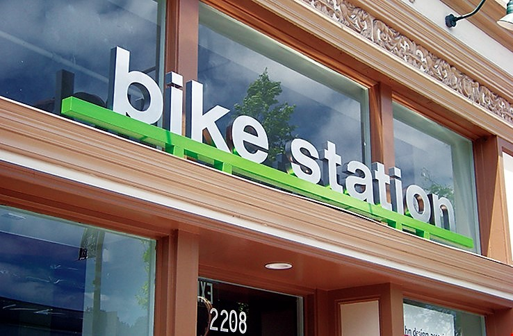Bike Station Channel Letters - Denver Signs