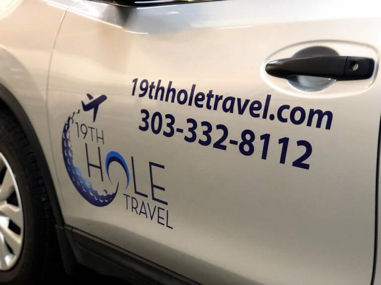 Fleet Vehicle Wraps for 19th Hole Travel in Denver, CO
