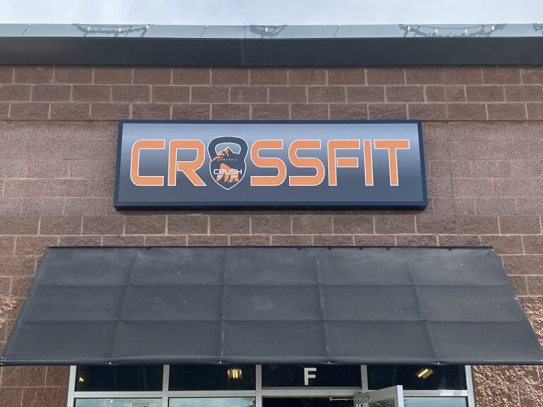 Crossfit Commercial Cabinet Signs - Denver Signs