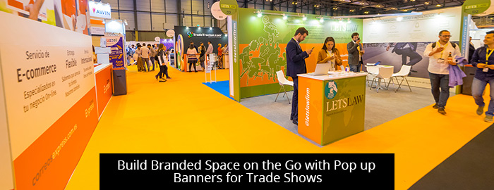 thumb-Build Branded Space on the Go with Pop up Banners for Trade Shows