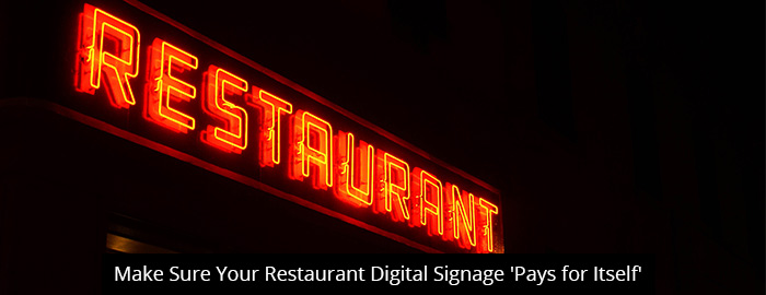 thumb-Make Sure Your Restaurant Digital Signage 'Pays for Itself'