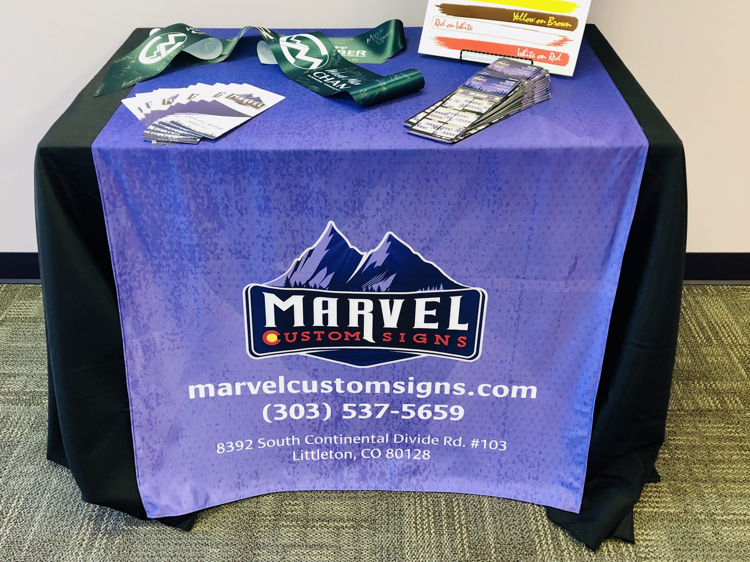Fabric Signs and Promotional Items Custom Made by Marvel Custom Signs