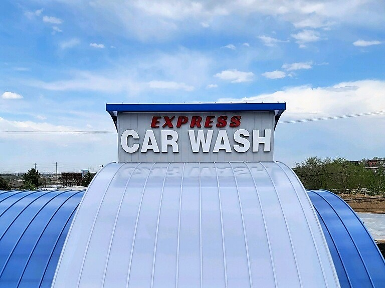Outdoor Signs for Express Car Wash in Denver, CO