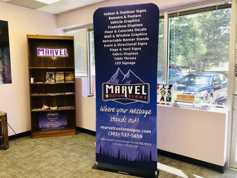 Marvel Custom Signs – Office customized signs and banners printing company in Denver, CO