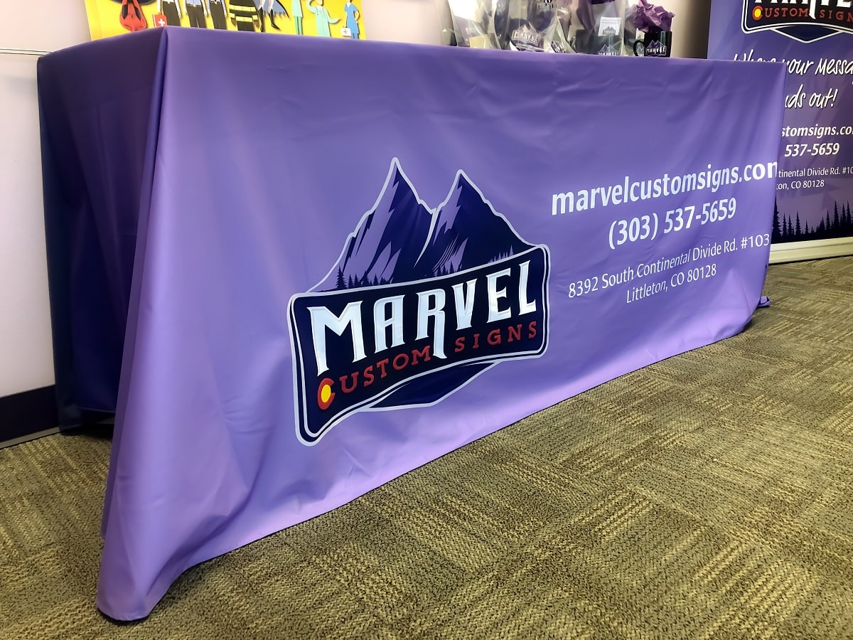 Custom Fabric Table Covers for Trade Show in Denver, CO
