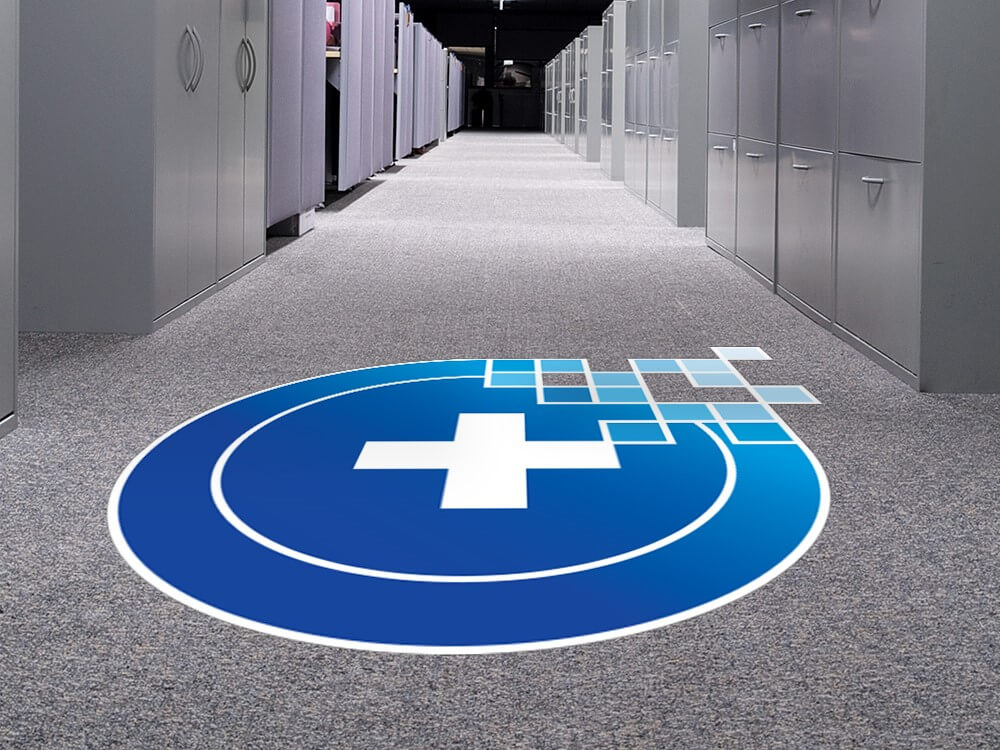 Business Floor Decals Customized by Marvel Custom Signs in Denver, CO